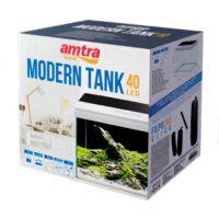 Аквариумный набор на 28 литров Amtra MODERN TANK 40 LED (ультрапрозрачное стекло)