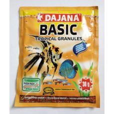 Корм для всех видов рыб в гранулах Dajana BASIC TROPICAL GRANULES 80 мл