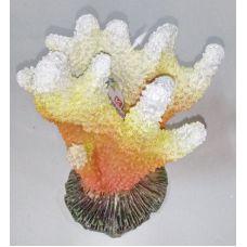 Декорация для аквариума DoPhin Коралл желтый 13см, 292В