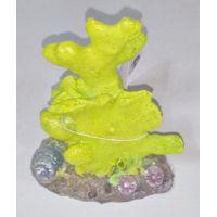 Декорация для аквариума DoPhin Коралл зеленый 10см, 407А