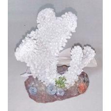 Декорация для аквариума DoPhin Коралл белый 10см, 407D