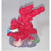 Декорация для аквариума DoPhin Коралл красный 10см, 407E