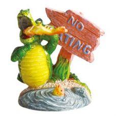 Декорация для аквариума Крокодил с табличкой No eating