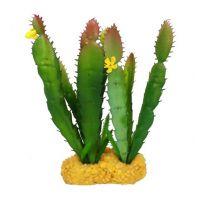 Декорация в террариум растение Высокий кактус 17933 12x10x18см