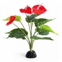 Декорация в террариум Repti-Zoo растение Anthurium TP013 33см