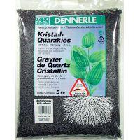 Грунт для аквариумов DENNERLE Kristal-Quartz 1-2мм сланцево-серый 5кг 1748