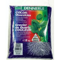 Грунт для аквариумов DENNERLE Color-Quartz 1-2мм лазурно-синий 5кг 2760