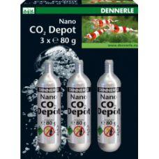 3 сменных СО2-баллончика 80 г для DENNERLE СО2-Nano-Set для систем Crystal-Line 2995