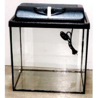 Аквариум для водных лягушек 30 литров прямой (набор)
