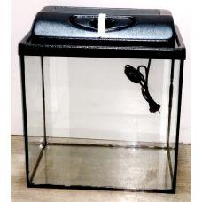 Аквариум 40 литров прямоугольный с крышкой пластик