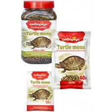 Корм АКВАРИУС Turtle menu (палочки) 10г