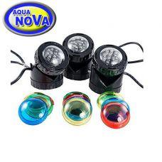 Светильник светодиодный для прудов и фонтанов AquaNova NPL1-LED3 (диммер день-ночь)