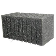 Фильтрующая губка к насосам (помпам) прямоугольная 19х10см (крупнопористая, перфорация)