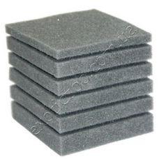 Фильтрующая губка к насосам (помпам) прямоугольная 10х10см (крупнопористая, перфорация)