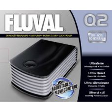 Компрессор для аквариума двухканальный бесшумный Hagen Fluval Q 2 A852