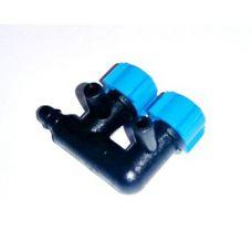Краник для трубки подачи воздуха тройной V2 4мм