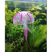 Декорация для аквариума силиконовая Медуза 5см