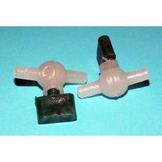 Краник для трубки подачи воздуха флажковый 4мм