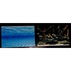 Задний фон для аквариума двухсторонний 30см высота 9073/9074