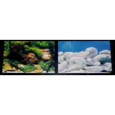 Задний фон для аквариума двухсторонний 50см высота 9075/9076