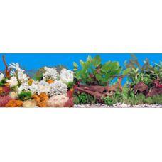 Задний фон для аквариума двухсторонний 50см высота 9029/9059
