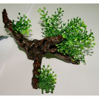 Пластиковое растение на коряге для аквариума 2123132