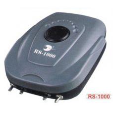 Компрессор для аквариума четырехканальный с регулировкой подачи воздуха RS-Electrical RS-1000 9L/min