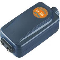 Компрессор для аквариума воздушный двухканальный с регулировкой подачи воздуха RS-Electrical RS-360 4.0L/min