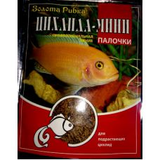 Корм Золотая Рыбка Цихлида-мини (палочки) 30г