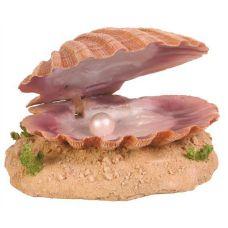 Декорация для аквариума Морская раковина с жемчужиной 15см, Trixie 8808