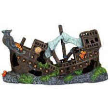 Декорация для аквариума Затонувший корабль 23см, Trixie 87816