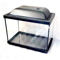 Аквариум 13 литров прямоугольный с крышкой и поддоном пластик