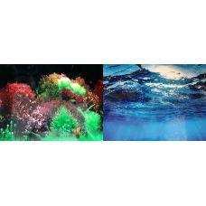 Задний фон для аквариума двухсторонний 30см высота 8007/8008