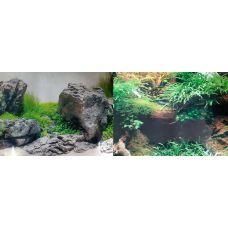 Задний фон для аквариума двухсторонний 40см высота 1346