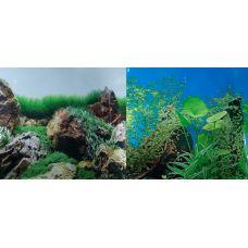 Задний фон для аквариума двухсторонний 50см высота YH002/201107