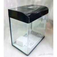 Аквариум 20 литров прямоугольный с крышкой пластик MJ PF-355 (передняя стенка без швов)