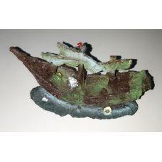 Декорация для аквариума Разбитый корабыль A07