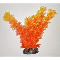 Пластиковое растение для аквариума 3115 orange