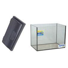 Аквариум 34 литра прямоугольный с крышкой Люкс ПРИРОДА