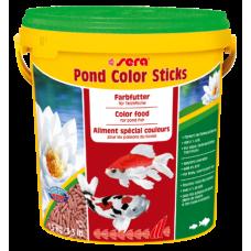 Корм Sera Pond Color Sticks для окраса прудовых рыб 10л
