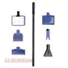 Скребок (набор) для чистки аквариума SUN-SUN SX-05 48см