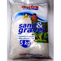 Грунт для аквариума Amatra BIANKA кварцевый белый песок 2мм 5кг
