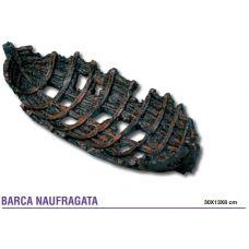 Декорация для аквариума Затонувший баркас А9000011